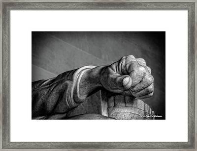 Lincoln's Left Hand B-w Framed Print