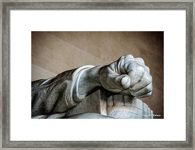 Lincoln's Left Hand Framed Print