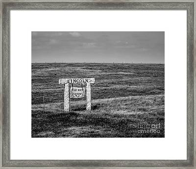 Lincon County - Post Rock Country Framed Print by Jon Burch Photography