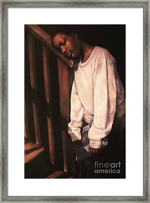 Linda Brown You Are Not Alone II Framed Print by Curtis James