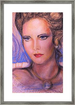 Framed Print featuring the pastel Linda Carter by Denise Fulmer
