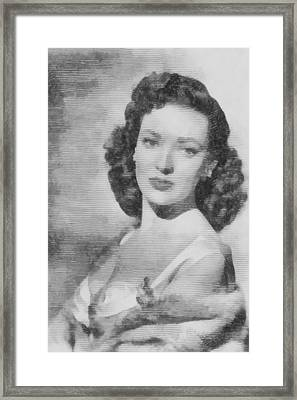 Linda Darnell, Actor Framed Print by John Springfield