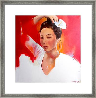 Linda Lightbody Framed Print by Lin Petershagen