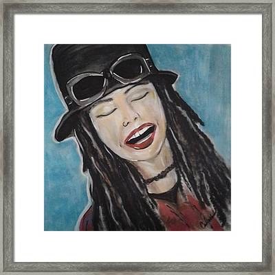 Linda Perry Framed Print by Cat Jackson