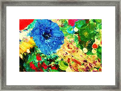 Linda's Garden Framed Print by HollyWood Creation By linda zanini