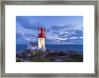 Lindesnes Fyr - Lighthouse In The South Of Norway Framed Print by Georgy Krivosheev
