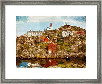 Lindesnes Lighthouse Framed Print