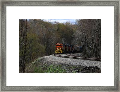 Framed Print featuring the photograph Lindholm Train by Rick Morgan