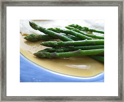 Framed Print featuring the photograph Lindie Bistro Asparagus Spears by Lindie Racz