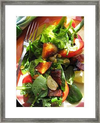 Lindie Bistro Garlic Baby Greens Framed Print by Lindie Racz