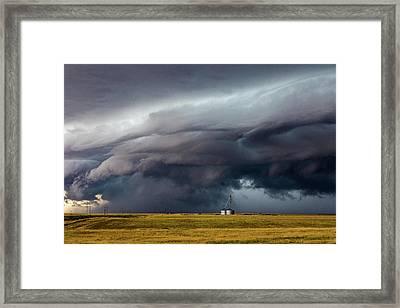 Lindon Colorado Storm Framed Print by David Brown Eyes