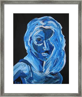Framed Print featuring the painting Lindsay by Joshua Redman