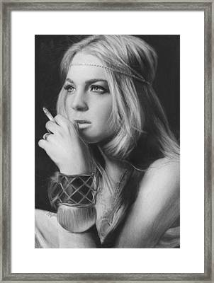 Lindsay Lohan Framed Print by Nat Morley