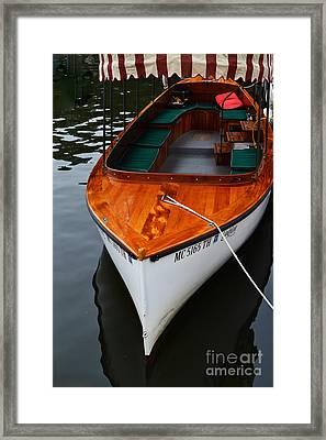 Lindy Lou Wood Boat Framed Print