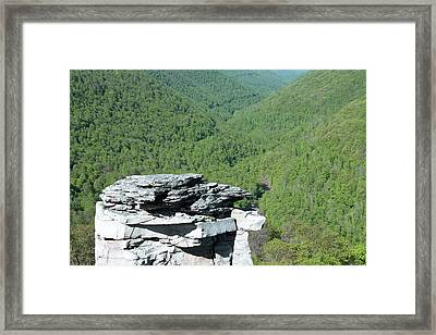Lindy Point Overlook In Summer Framed Print by Dan Sproul