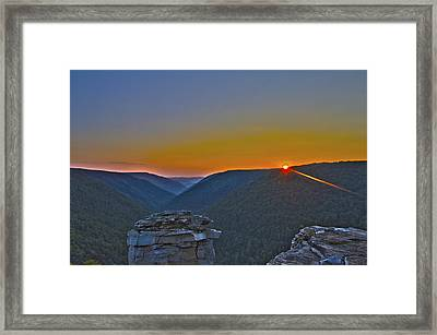 Lindy Point Sunset Framed Print