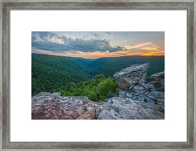 Canaan Valley West Virgina Lindy Point Sunset Framed Print