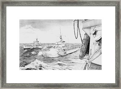 Line Abreast Framed Print by Don Macmillan