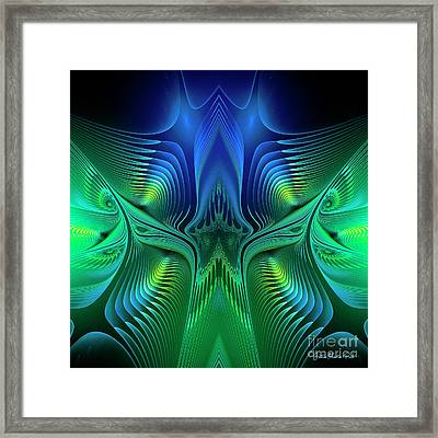 Framed Print featuring the digital art Line Art by Jutta Maria Pusl