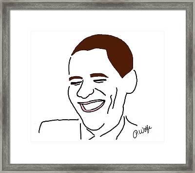 Line Art Man Framed Print