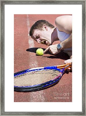 Line Ball Call Framed Print