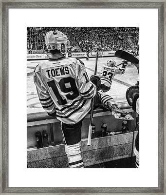 Line Change Framed Print