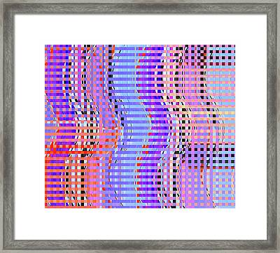 Line Dancers					 Framed Print by Ann Johndro-Collins