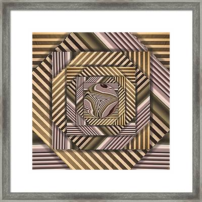 Line Geometry Framed Print by Ron Bissett