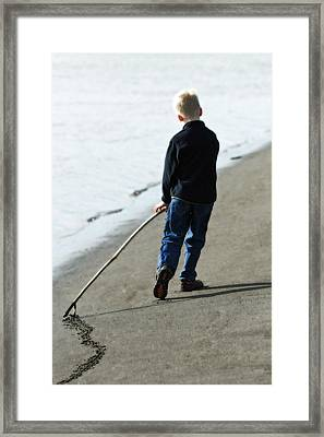 Line In The Sand Framed Print by Michael Palmer