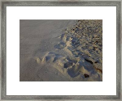 Line In The Sand Framed Print by Richard Barone