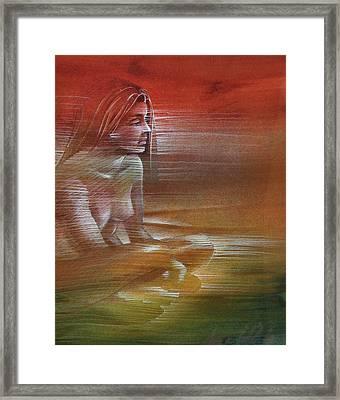 Line Nude 1977 Framed Print