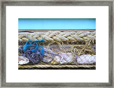 Framed Print featuring the photograph Line Of Debris II by Stephen Mitchell