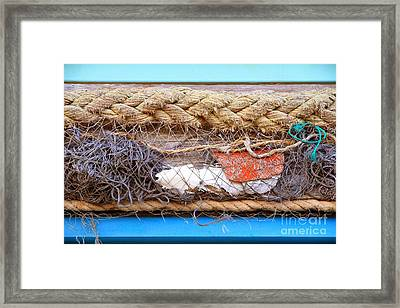 Framed Print featuring the photograph Line Of Debris by Stephen Mitchell