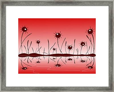 Line Of Defense Framed Print by Anastasiya Malakhova