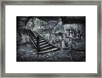 Line Of Descent Framed Print by Evelina Kremsdorf