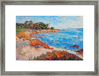 Framed Print featuring the painting Line Of Monterey by Erin Hanson