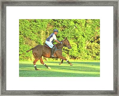 Line Of The Ball Framed Print by JAMART Photography