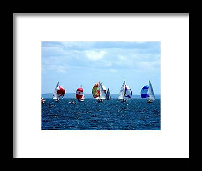 Colorful Boats Framed Prints