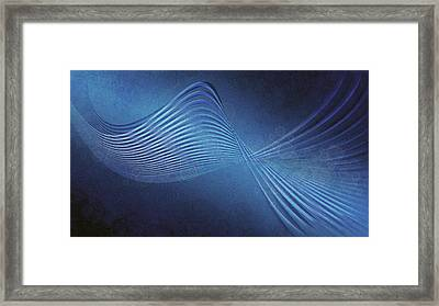 Line Wave Band Texture 99888 1920x1080 Framed Print