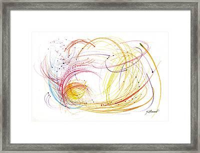 Linear 2 Framed Print by John Norman Stewart