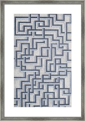 Linear Fermionic Transition Framed Print