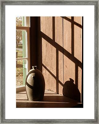 Linear Shadows Framed Print by Angie Bechanan