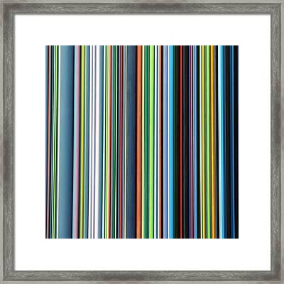 Linear Technicolor - 4 Of 4 Framed Print