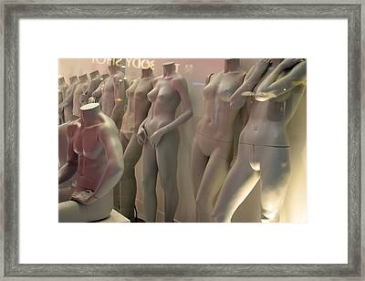 Lined Up And Waitng Framed Print by Jez C Self
