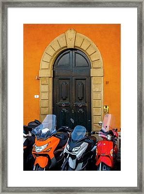 Lined Up In Florence Framed Print by Andrew Soundarajan