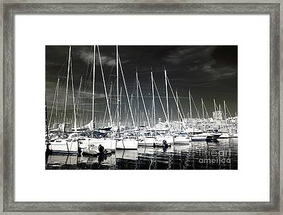 Lined Up In Marseille Framed Print by John Rizzuto