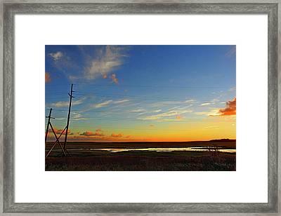 Lineman's Landscape Framed Print by Laura Ragland