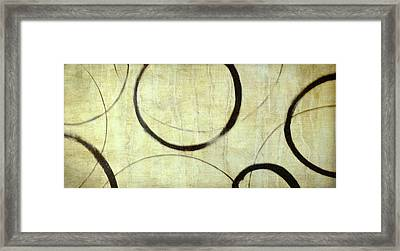 Framed Print featuring the painting Linen Ensos by Julie Niemela