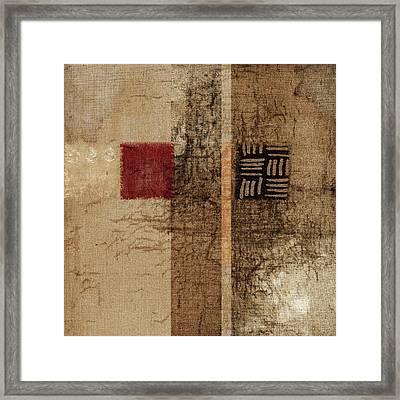 Linen Weave Framed Print