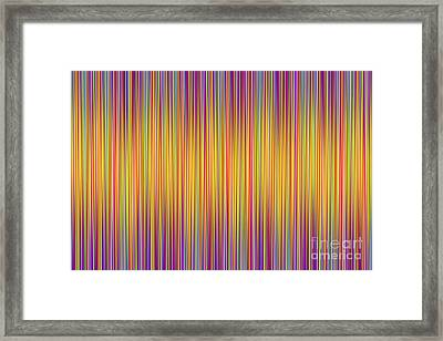 Framed Print featuring the digital art Lines 102 by Bruce Stanfield